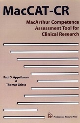 MacArthur Competence Assessment Tool for Clinical Research (MacCAT-CR)