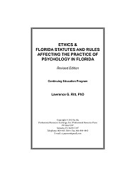 Ethics & FL Statutes and Rules Online CE Program - 3 Credits/Hours