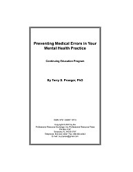 Online CE Program - 2 Medical Errors Credits/Hours